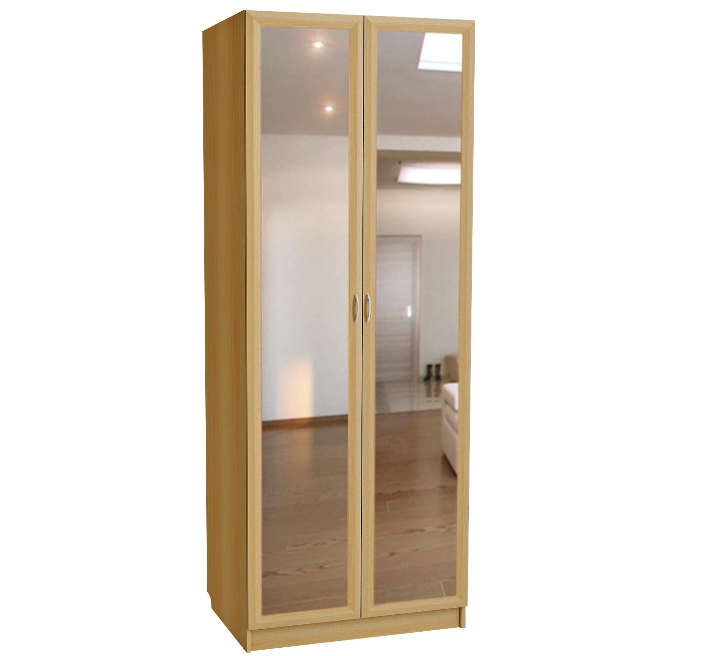 Шкаф для платья и белья двухдверный с зеркалом с 202/1 м меб.