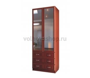 Шкаф для белья с тремя ящиками с зеркалами