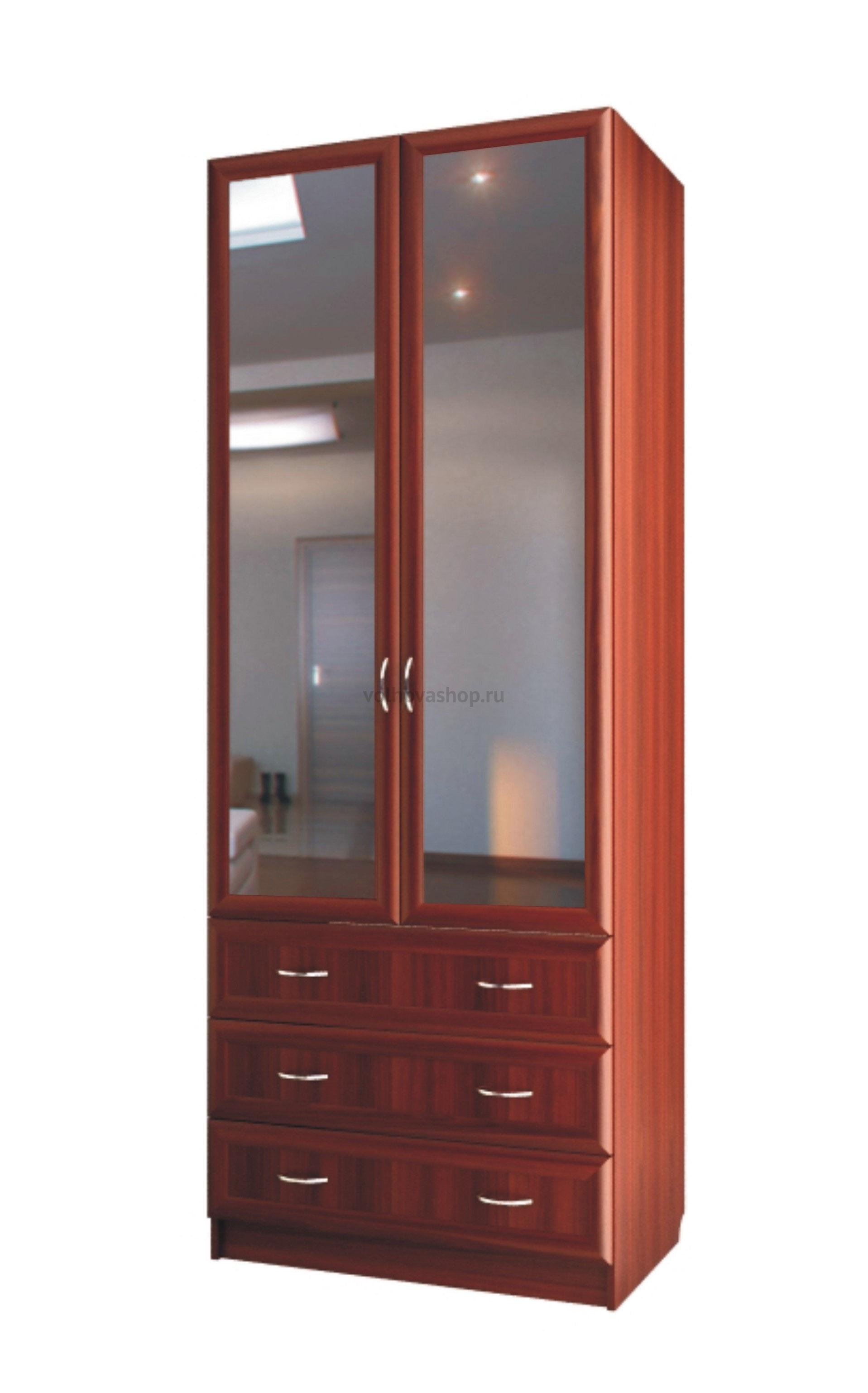 Шкаф для белья двухдверный с зеркалами и с 3 ящиками с 403/1.