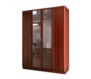 Шкаф для платья и белья четырехдверный с двумя зеркалами