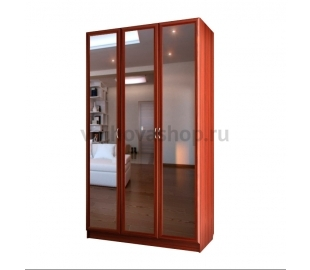Шкаф для платья и белья трехдверный с тремя зеркалами