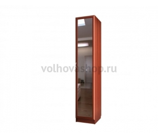 Шкаф для книг узкий с зеркалом