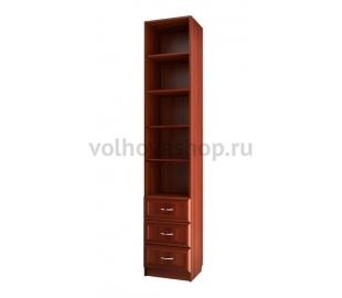 Шкаф для книг узкий с тремя ящиками