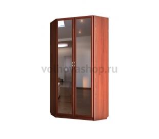 Шкаф угловой двухдверный с зеркалом